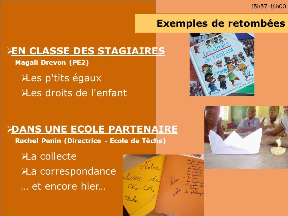 EN CLASSE DES STAGIAIRES Les p tits égaux Les droits de l enfant