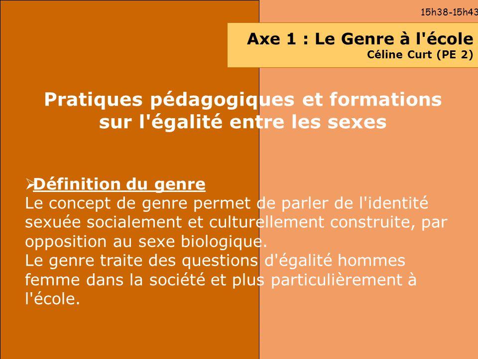 Pratiques pédagogiques et formations sur l égalité entre les sexes