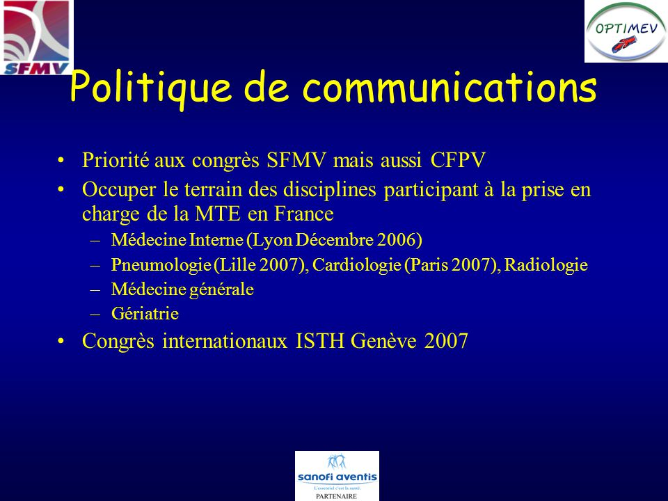 Politique de communications