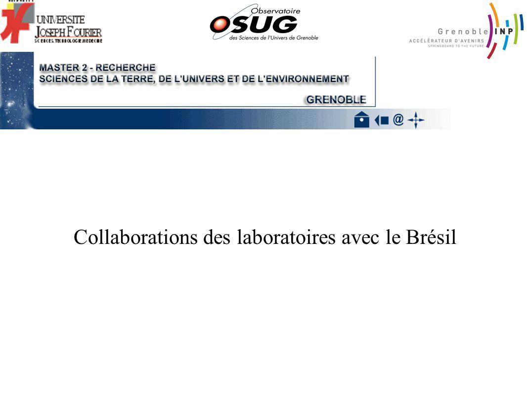 Collaborations des laboratoires avec le Brésil