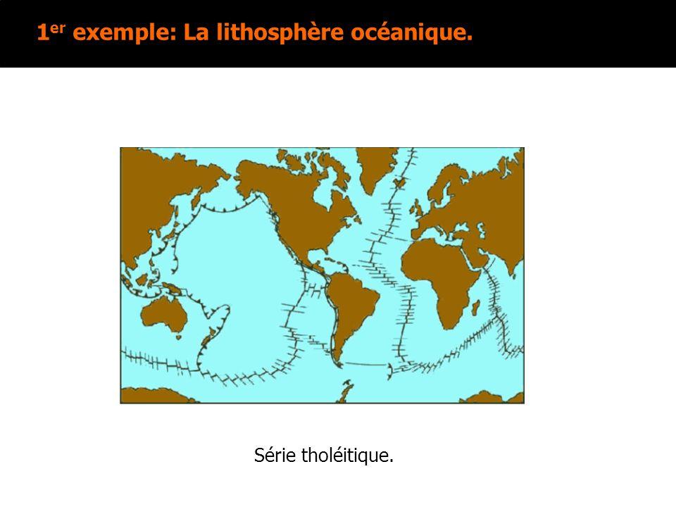 1er exemple: La lithosphère océanique.