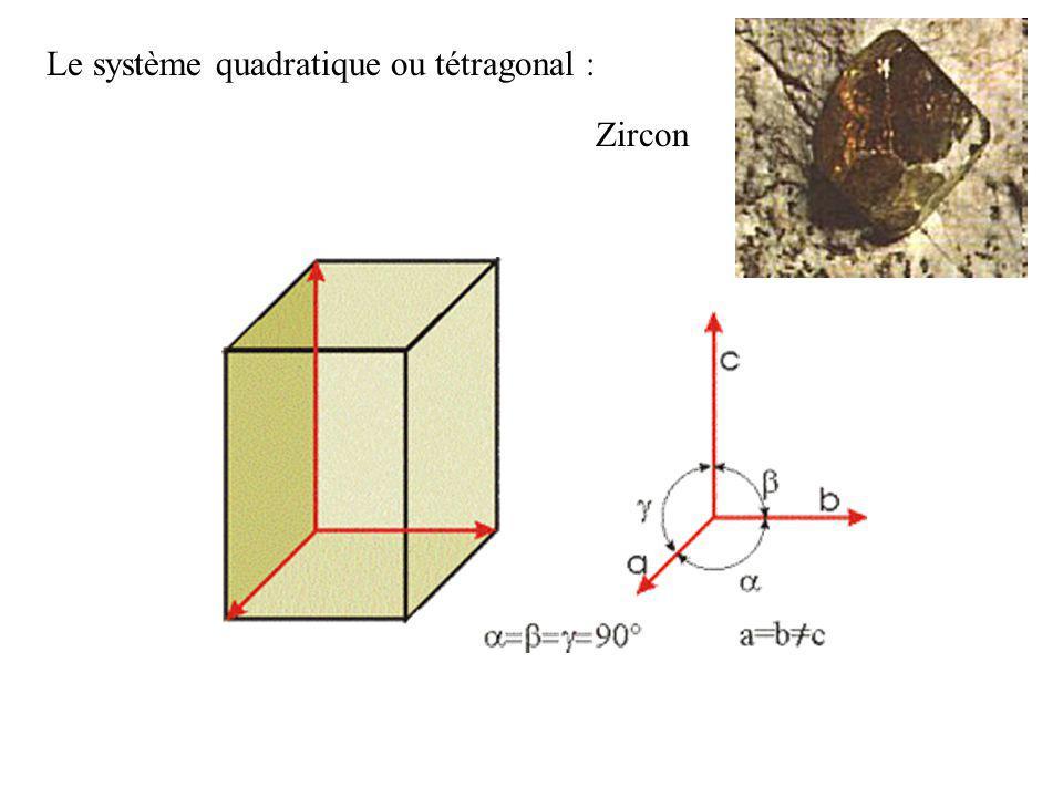 Le système quadratique ou tétragonal :