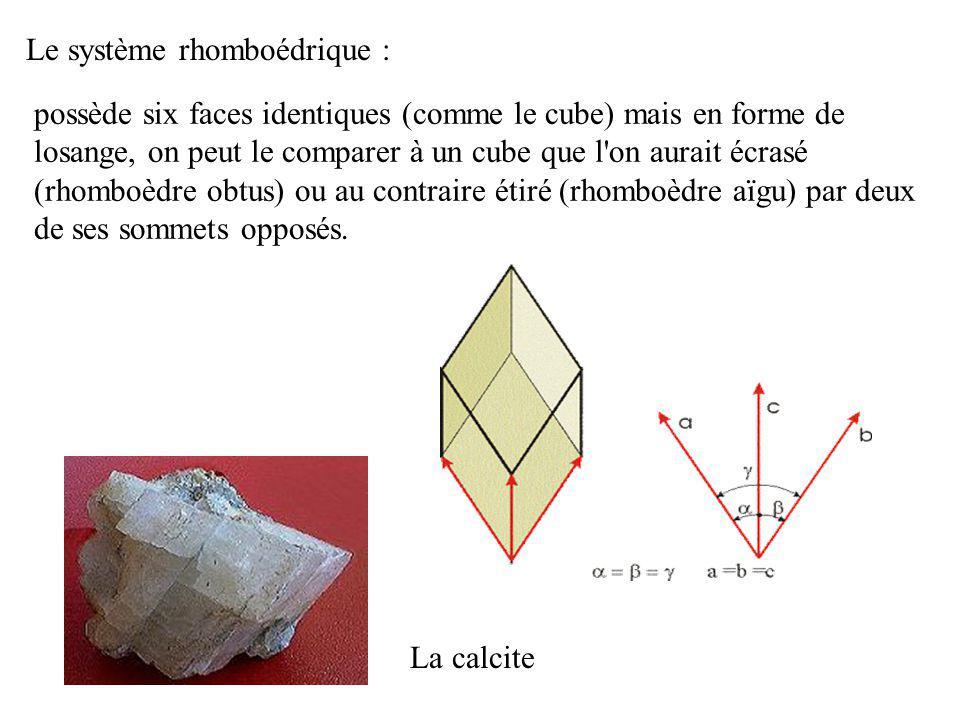 Le système rhomboédrique :