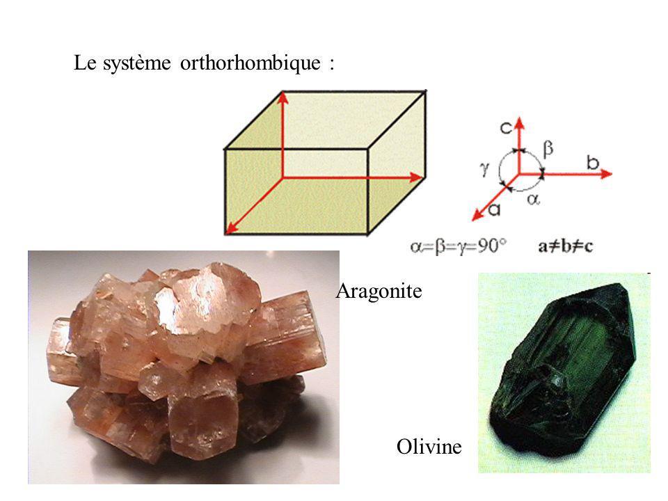 Le système orthorhombique :
