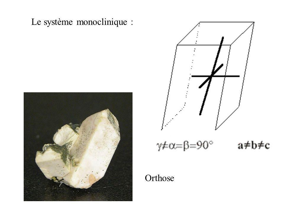 Le système monoclinique :