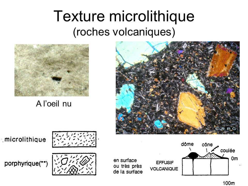 Texture microlithique (roches volcaniques)