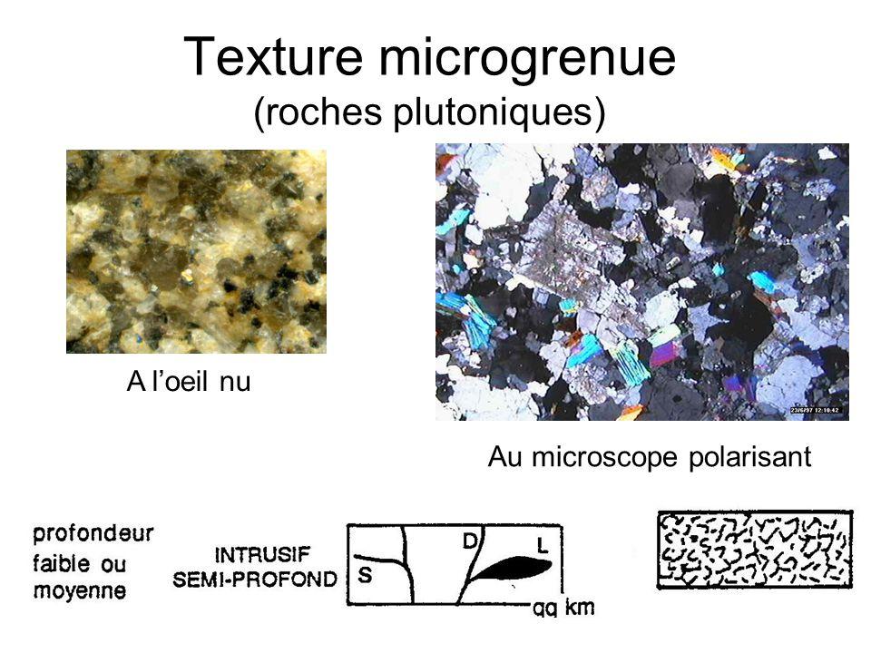 Texture microgrenue (roches plutoniques)