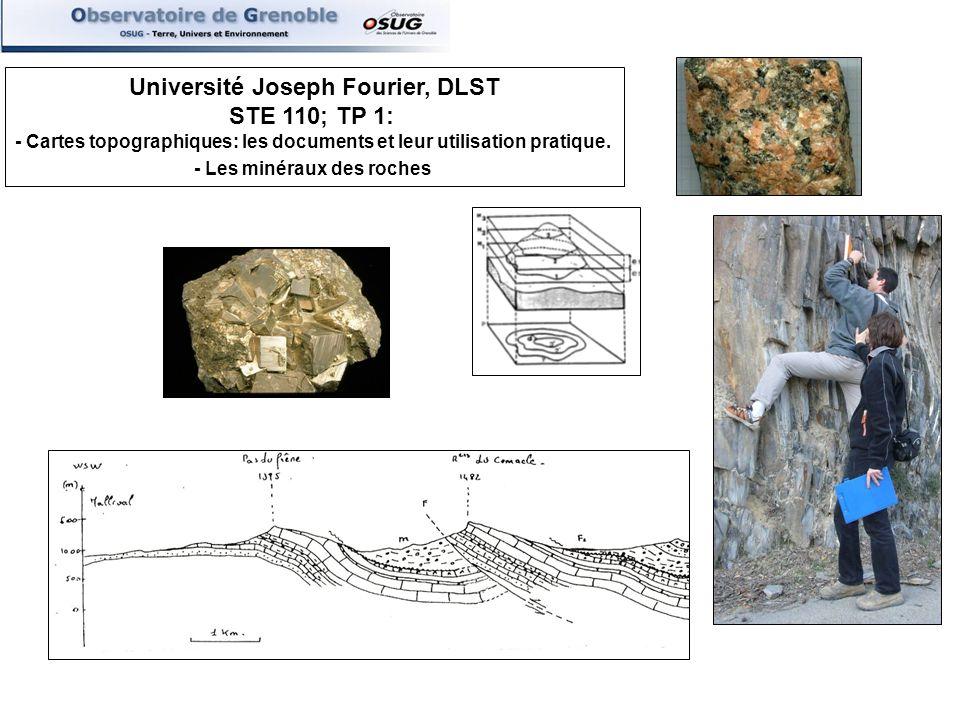 Université Joseph Fourier, DLST STE 110; TP 1: