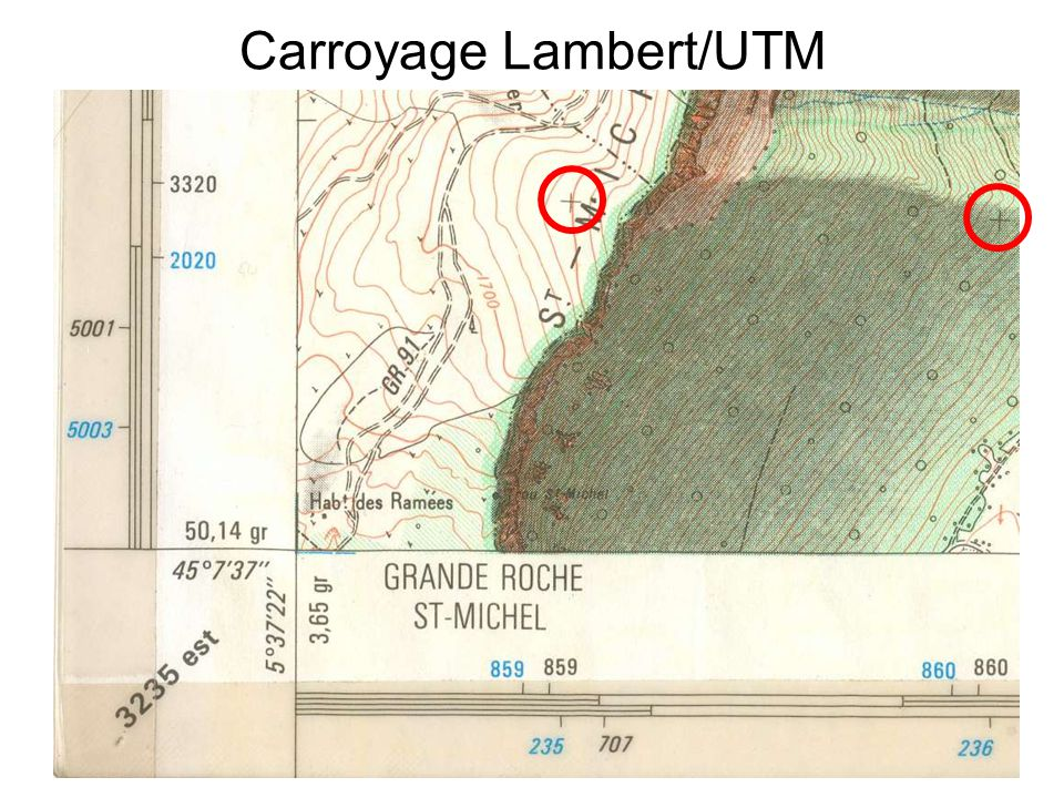 Carroyage Lambert/UTM