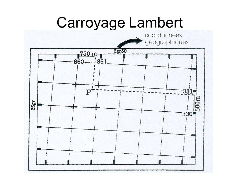 Carroyage Lambert Croisillons et amorces de croisillons