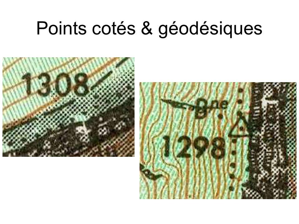 Points cotés & géodésiques