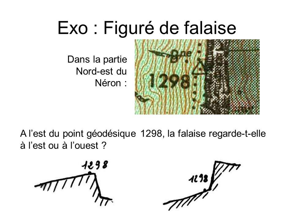 Exo : Figuré de falaise Dans la partie Nord-est du Néron :