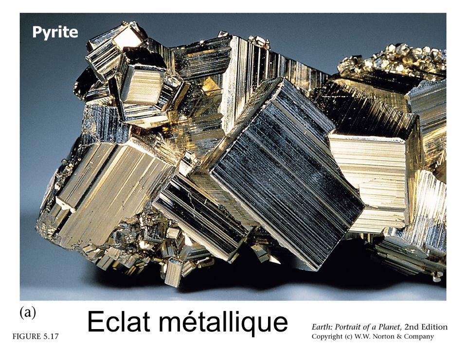 Pyrite Eclat métallique