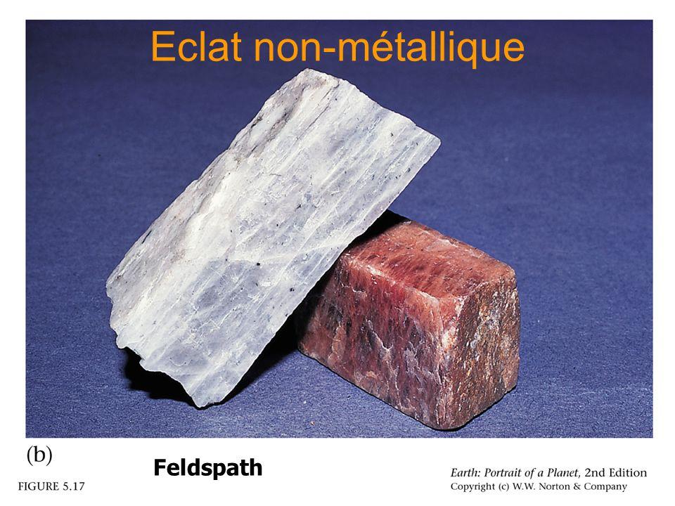 Eclat non-métallique Illustration d'un éclat métallique Feldspath