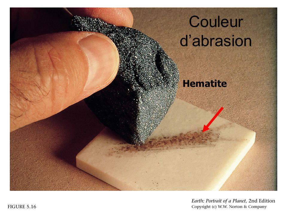 Couleur d'abrasion Hematite