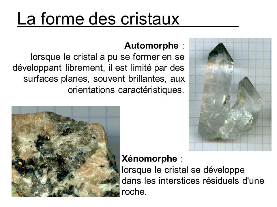 La forme des cristaux Automorphe :