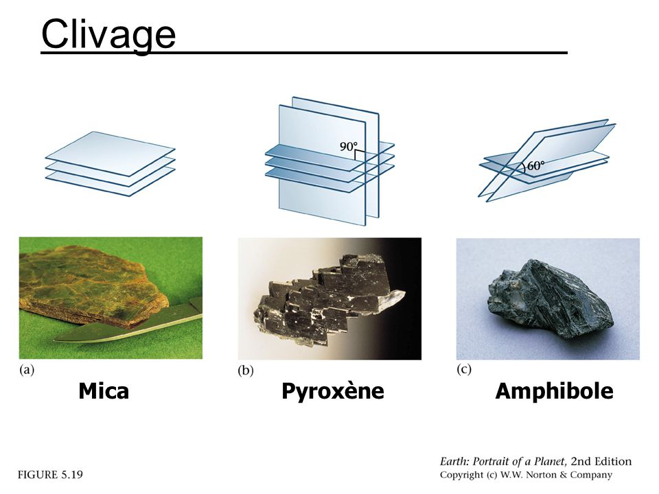 Clivage Mica Pyroxène Amphibole