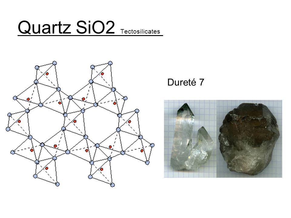 Quartz SiO2 Tectosilicates
