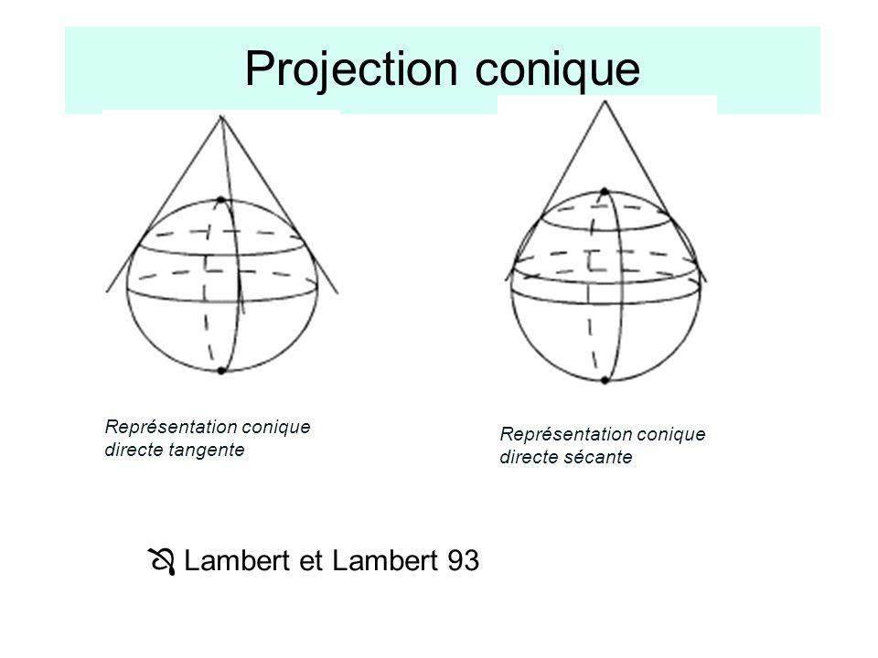 Projection conique  Lambert et Lambert 93