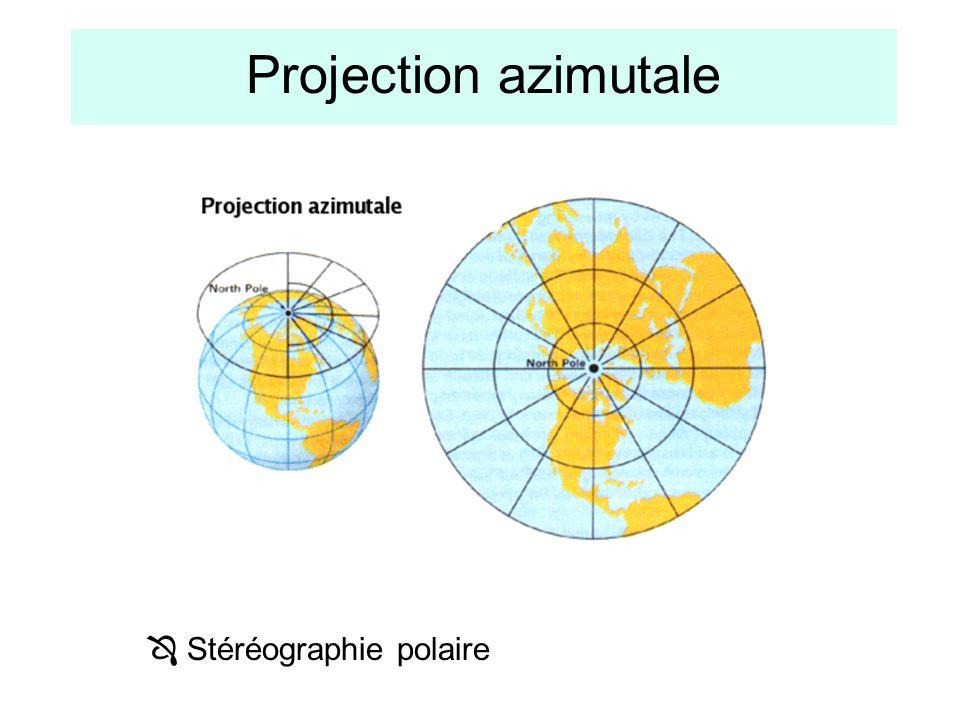 Projection azimutale  Stéréographie polaire