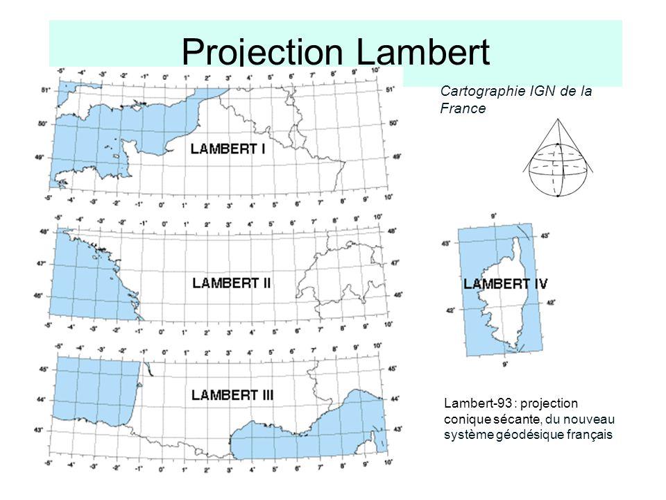 Projection Lambert Cartographie IGN de la France