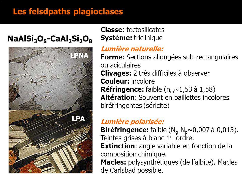 Les felsdpaths plagioclases