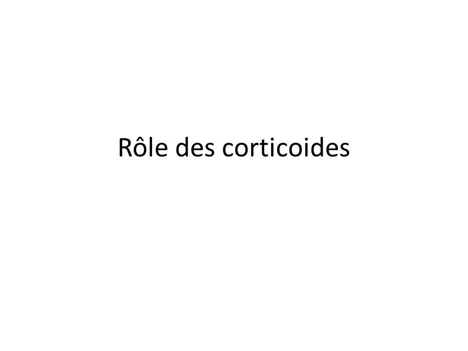 Rôle des corticoides