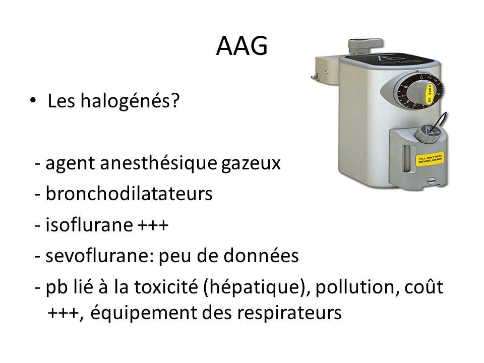 AAG Les halogénés - agent anesthésique gazeux - bronchodilatateurs