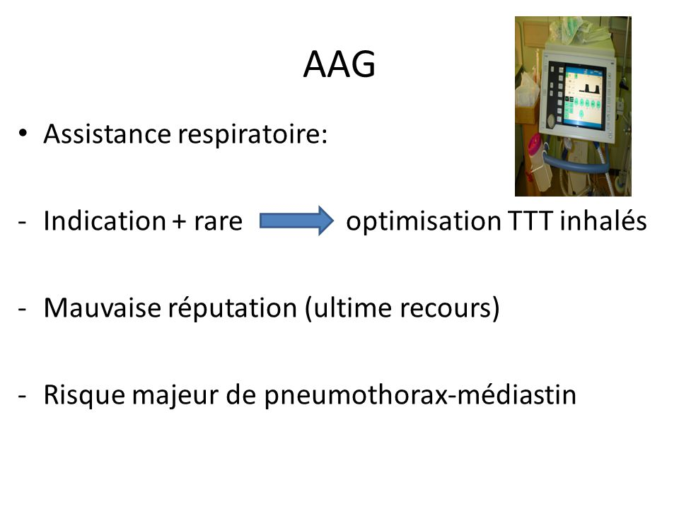 AAG Assistance respiratoire: