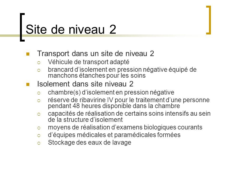 Site de niveau 2 Transport dans un site de niveau 2
