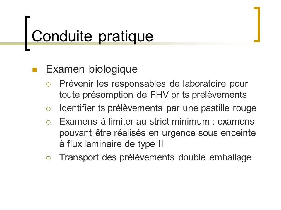 Conduite pratique Examen biologique