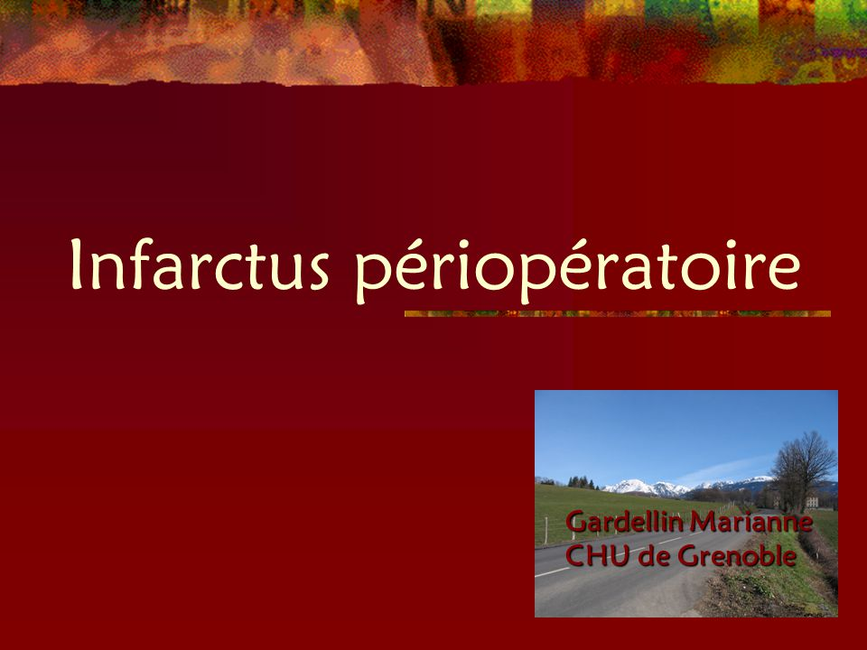 Infarctus périopératoire