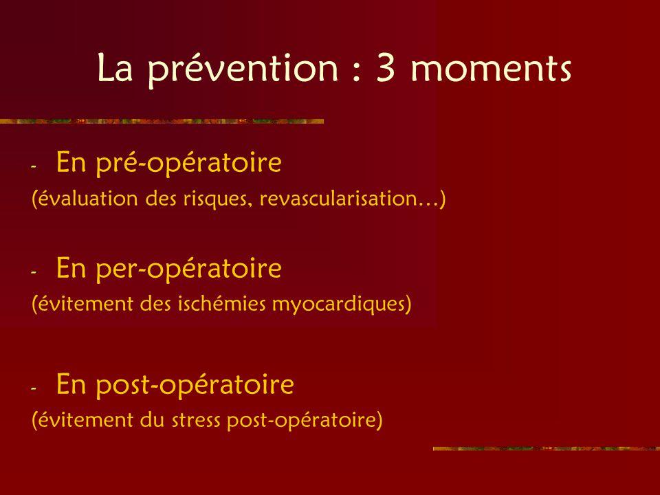 La prévention : 3 moments