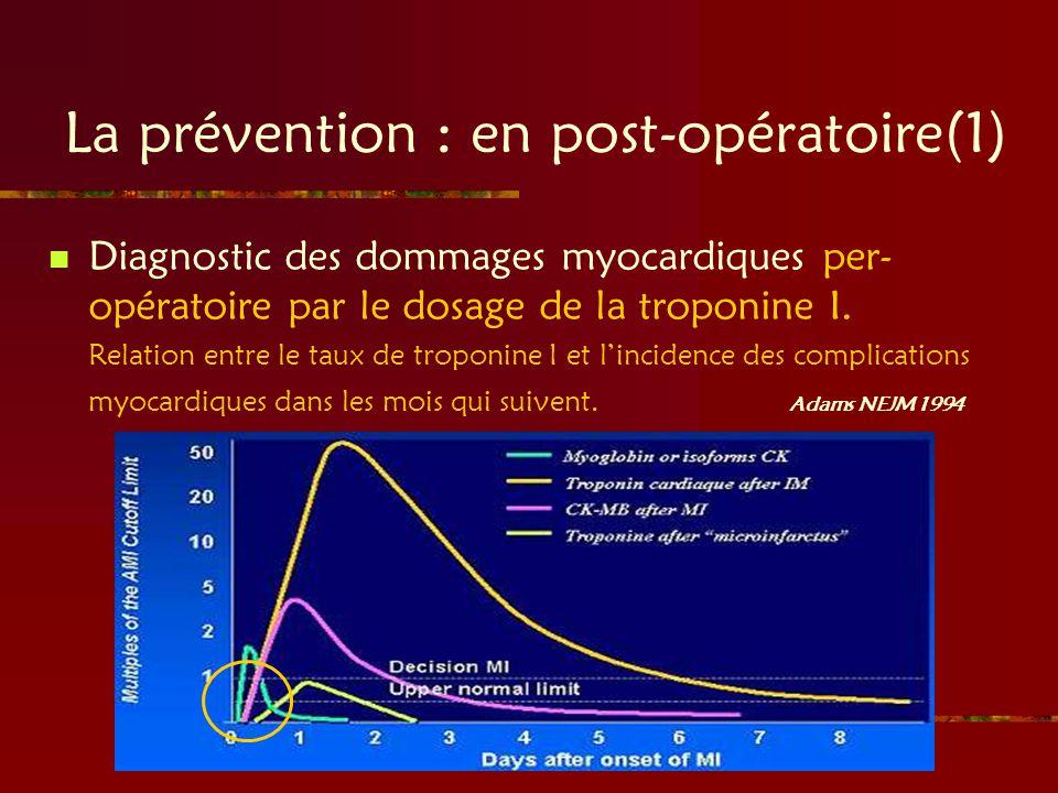 La prévention : en post-opératoire(1)