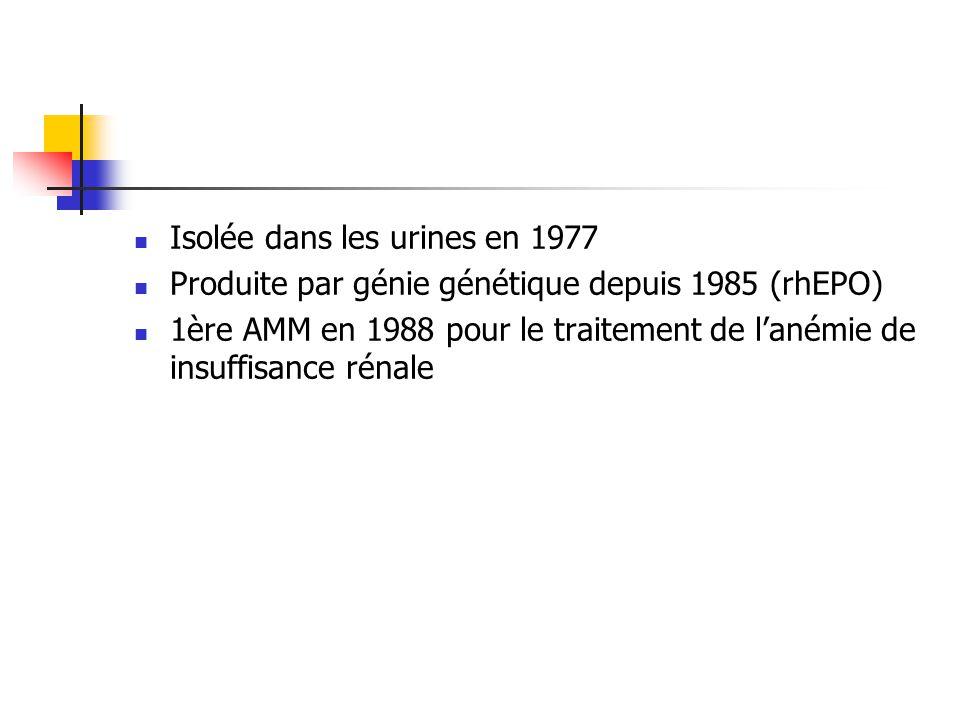 Isolée dans les urines en 1977