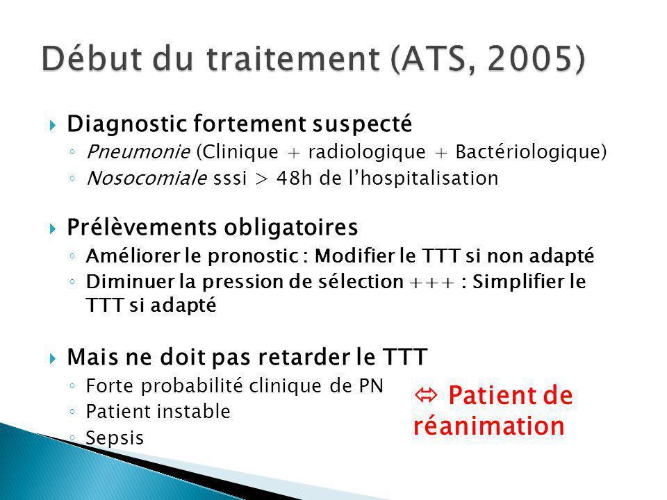 Début du traitement (ATS, 2005)
