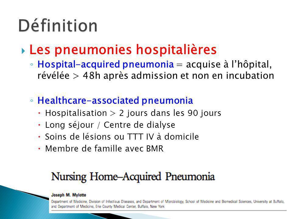 Définition Les pneumonies hospitalières