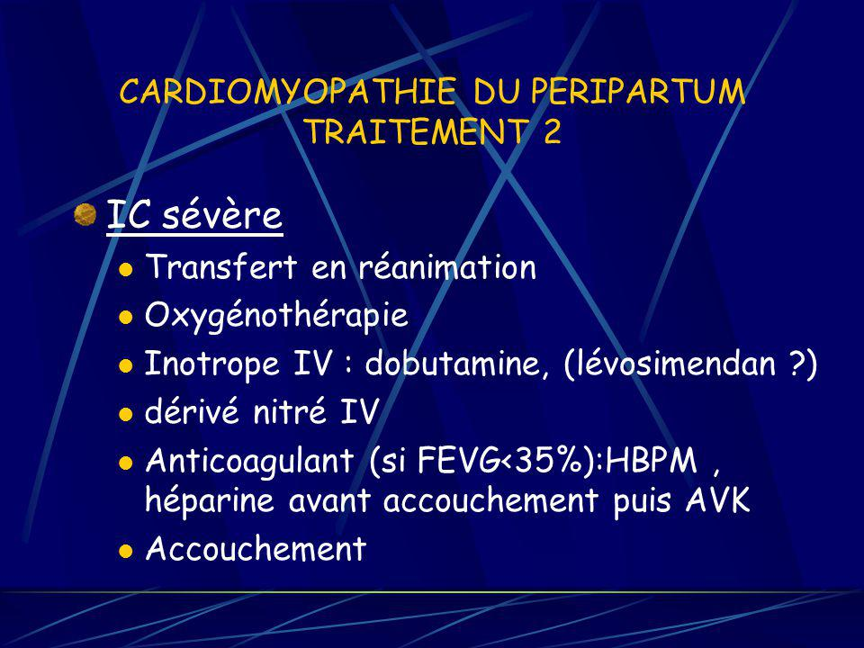 CARDIOMYOPATHIE DU PERIPARTUM TRAITEMENT 2