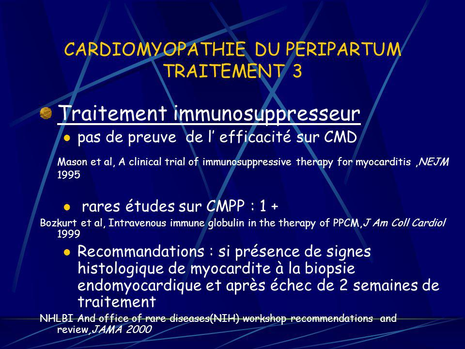 CARDIOMYOPATHIE DU PERIPARTUM TRAITEMENT 3