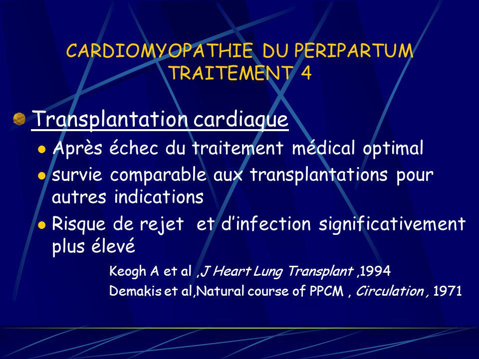 CARDIOMYOPATHIE DU PERIPARTUM TRAITEMENT 4