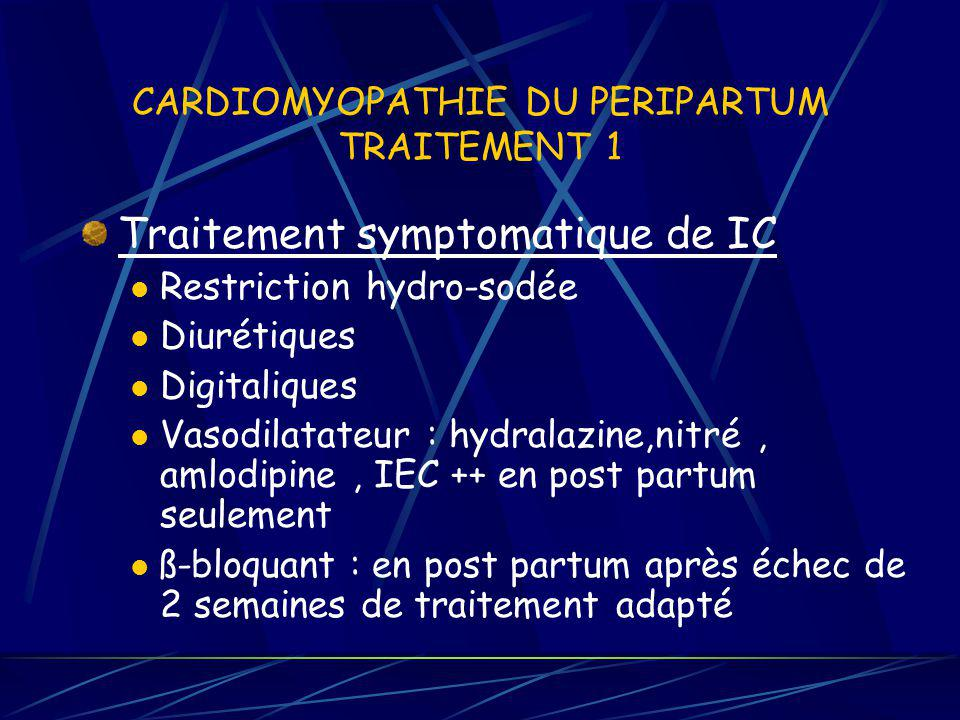 CARDIOMYOPATHIE DU PERIPARTUM TRAITEMENT 1