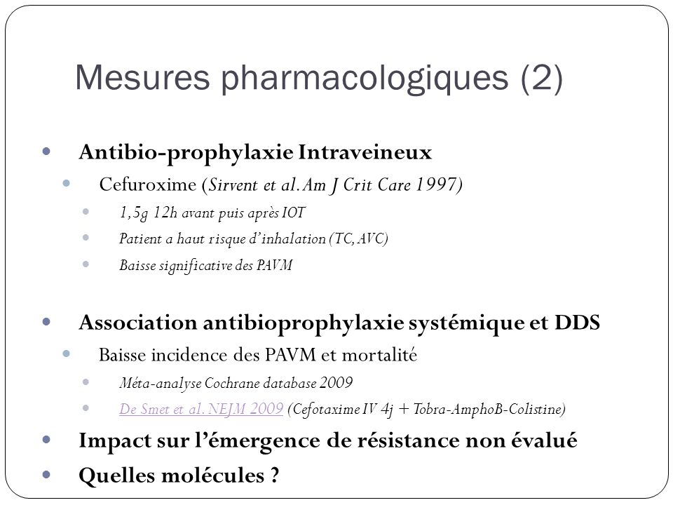 Mesures pharmacologiques (2)