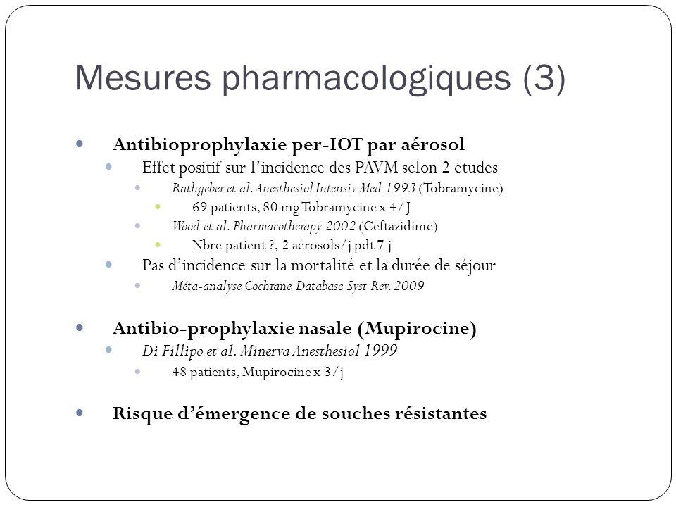 Mesures pharmacologiques (3)