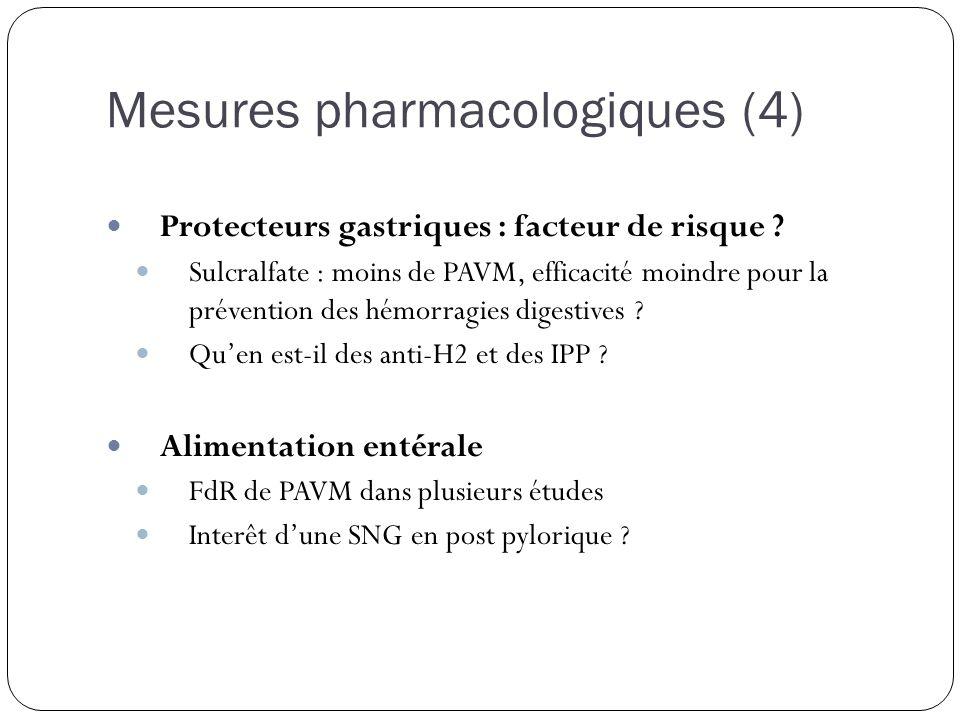 Mesures pharmacologiques (4)