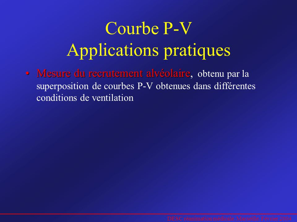 Courbe P-V Applications pratiques