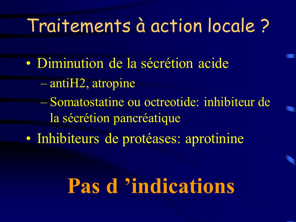 Traitements à action locale