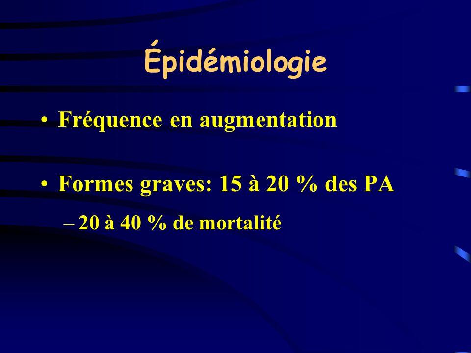 Épidémiologie Fréquence en augmentation