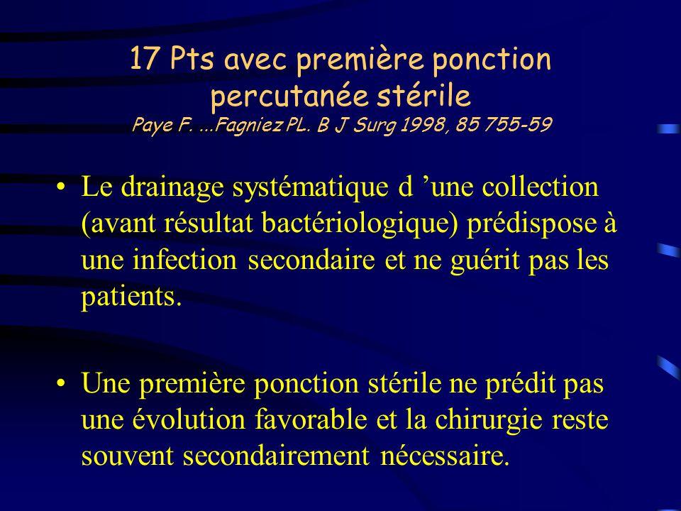 17 Pts avec première ponction percutanée stérile Paye F. Fagniez PL
