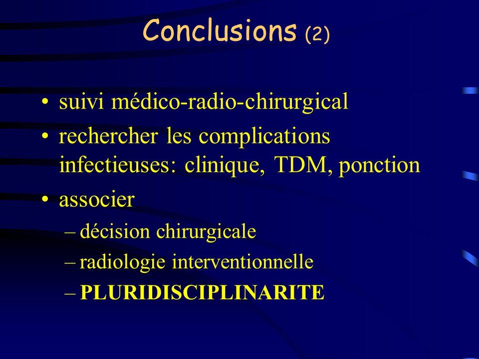 Conclusions (2) suivi médico-radio-chirurgical