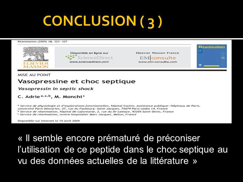 CONCLUSION ( 3 )